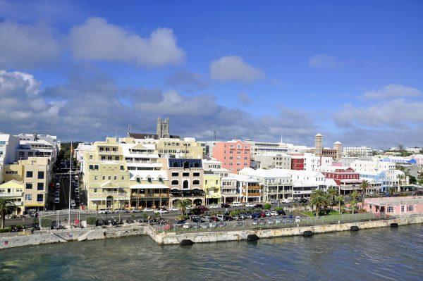 Blick auf die Front Street in Bermudas