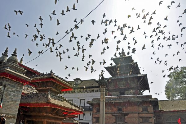 Am Durbar Square in Kathmandu
