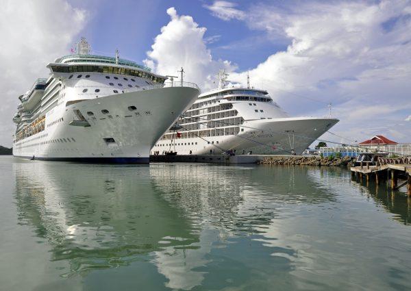 Die Silver Whisper in Antigua