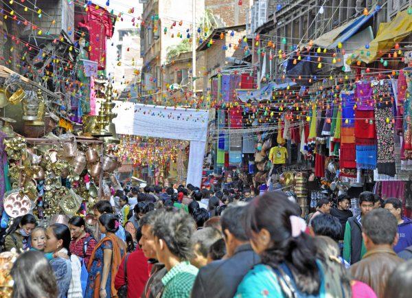 Trubel in der Altstadt von Kathmandu