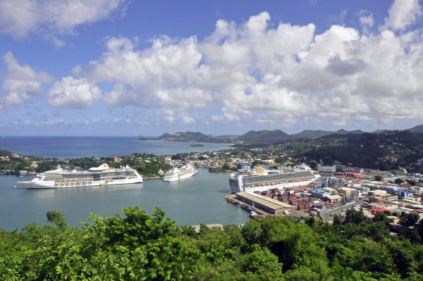 Blick auf Castries, St. Lucia