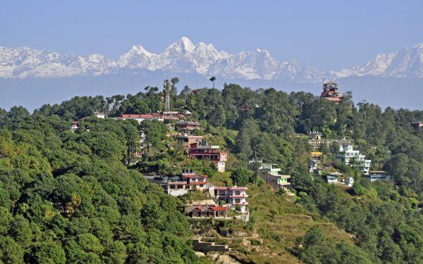 Blick auf das Himalaya Massiv