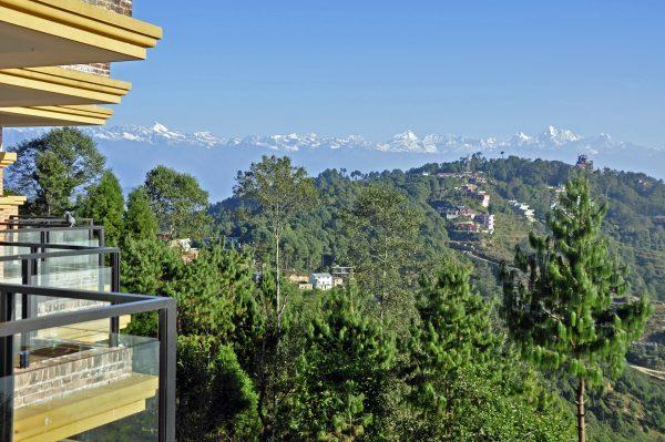 Blick vom Club Himalaya Hotel in Nagarkot