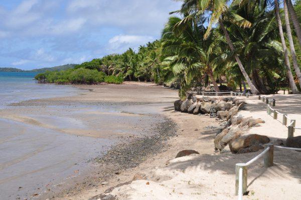 Der Strand des Wananavu Beach Resorts