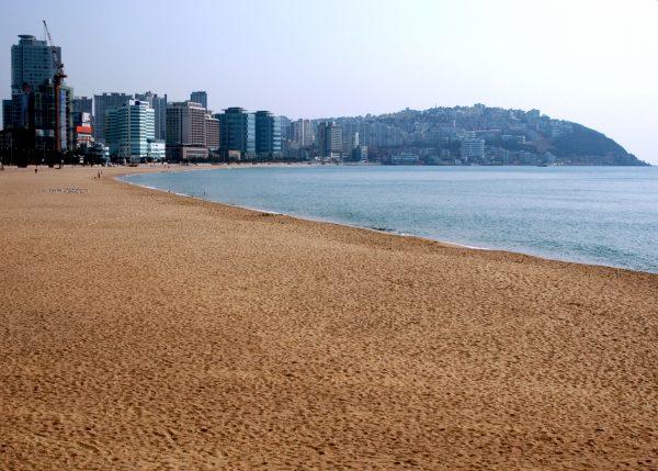 Der Strand von Pusan / Südkorea