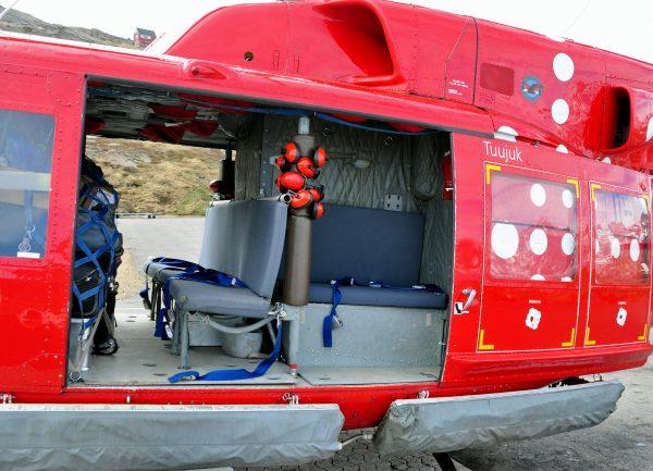 Air Greenland Bell 212, eingesetzt zwischen Kulusuk und Tasiilaq