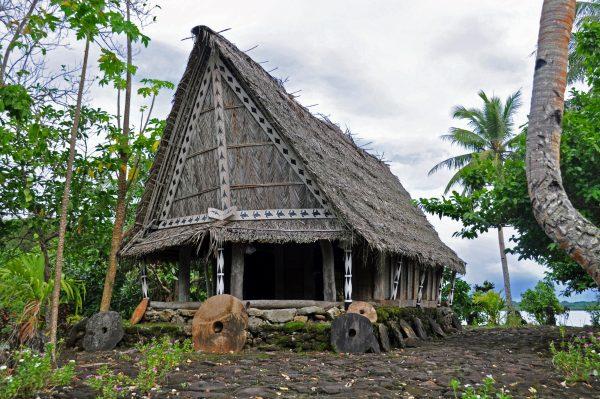Ein Männerhaus auf Yap