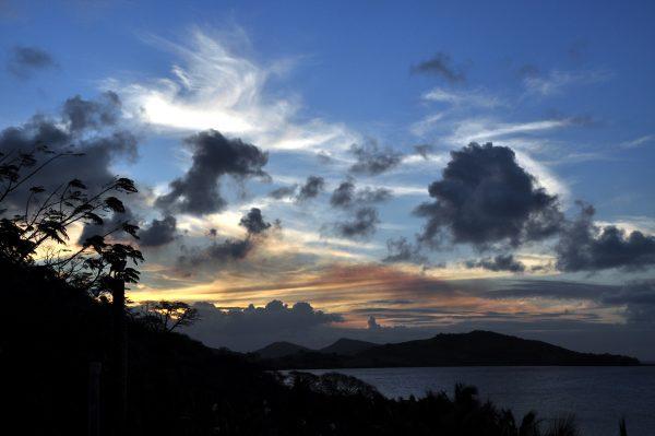 Es wird Nacht in Fidschi