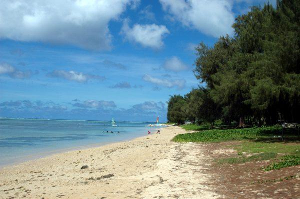 Ein Strand im Süden von Saipan
