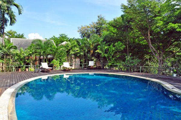 Der Pool des Lilawalai Resort, Khao Yai National Park