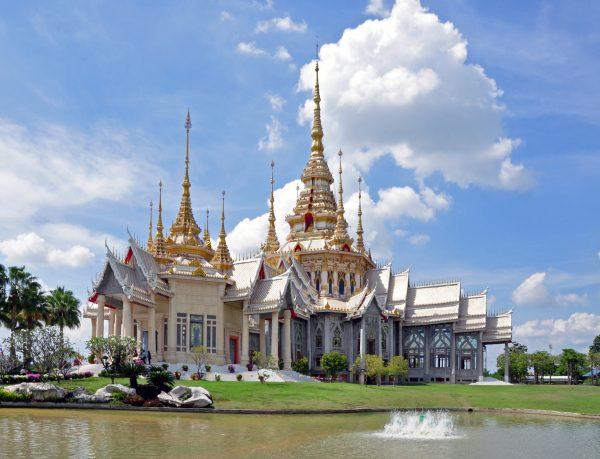 Der buddhistische Tempel Amphoe Sikhiu, Nakhon Ratchasima