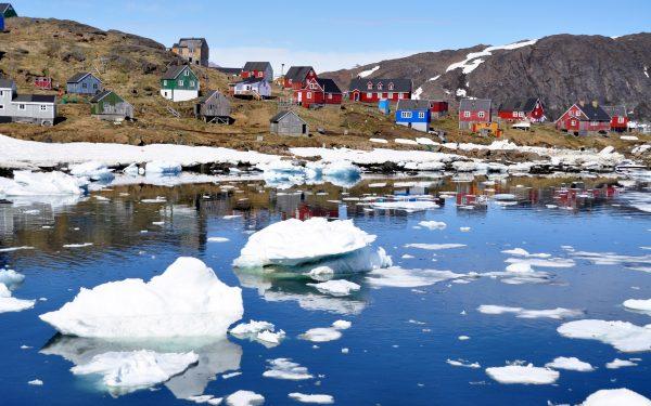 In Kulusuk im Osten von Grönland
