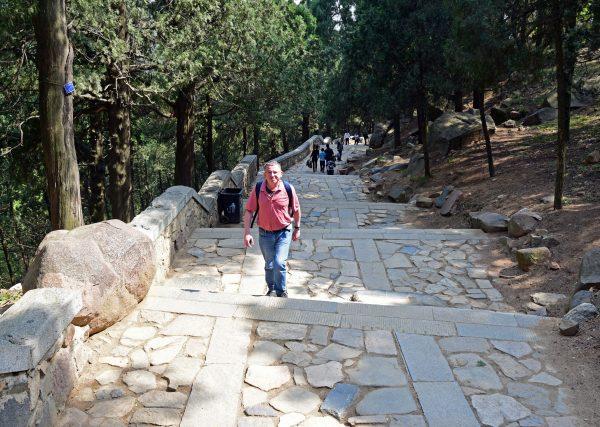 Zinni auf dem Weg zum Mount Tai