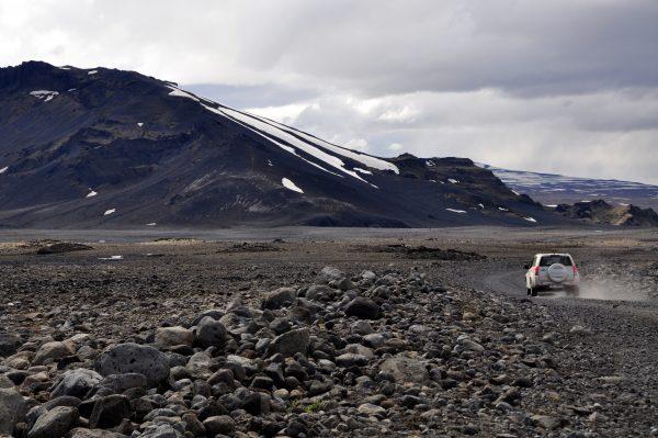 In der Nähe des Langjökull Gletschers