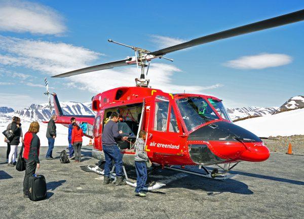 Air Greenland nach der Landung in Ittoqqortoormiit
