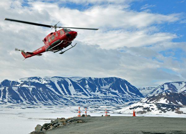 Abflug Air Greenland vom Heliport von Ittoqqortoormiit