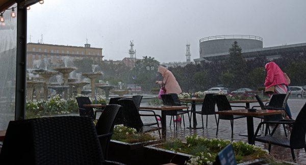 Regen in Gdingen