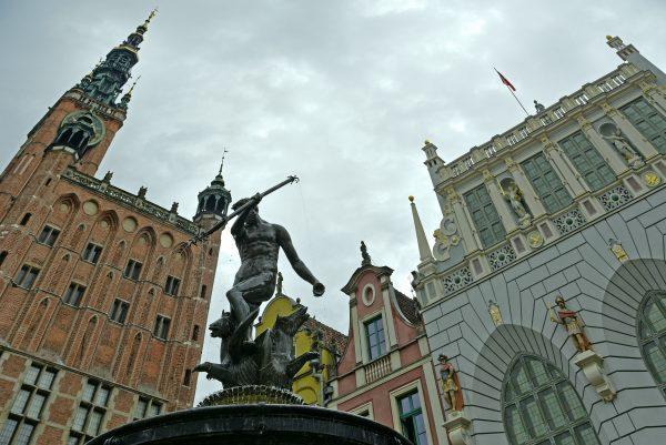 Der Neptunbrunnen in Danzig
