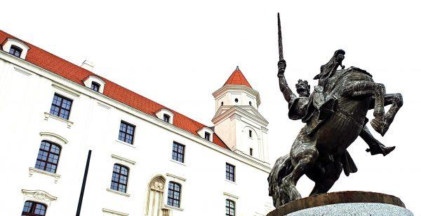 Die Reiterstatue von Svatopluk I. in Bratislava