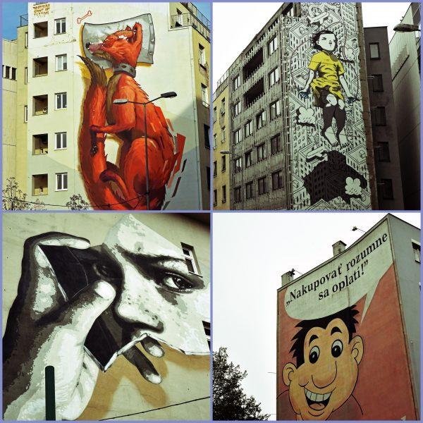 Wandbemalungen in Bratislava