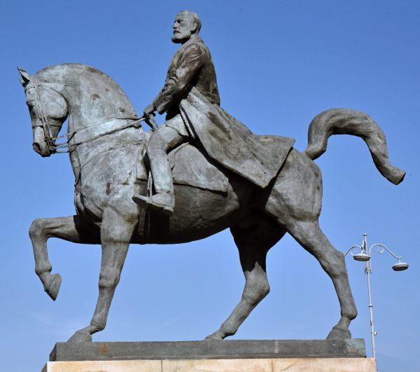 Das Reiterstandbild Karl I. in Bukarest