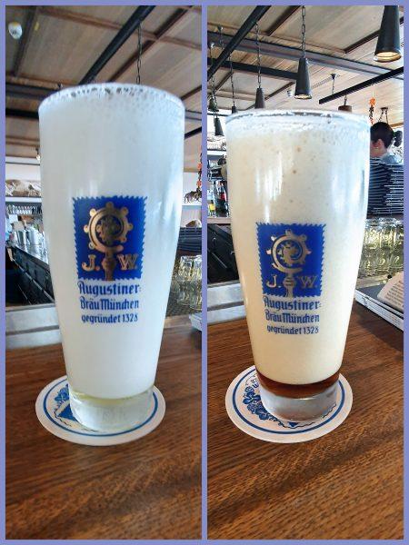 Ein Schnitt Bier im Oberhaus von Passau