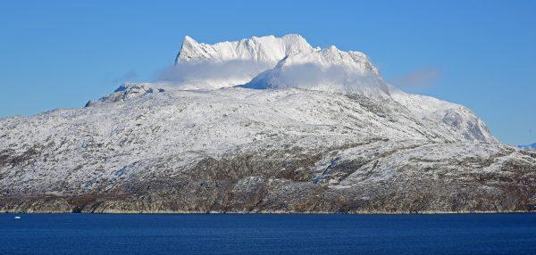 Der Berg Sermitsiaq, nahe Nuuk