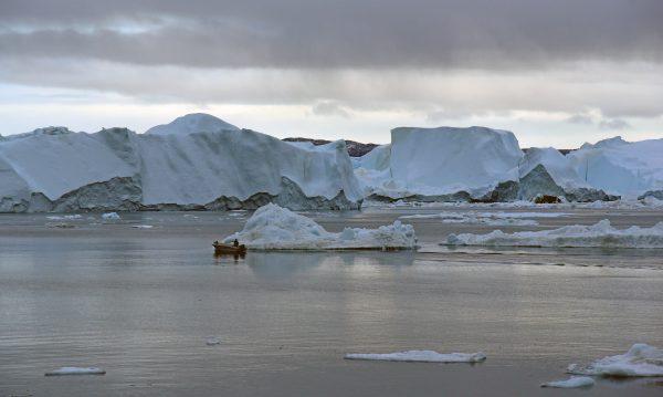 Der Icefjord von Ilulissat im Westen von Grönland