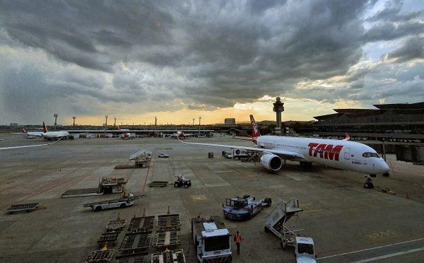 Blick auf das Rollfeld / Airport Sao Paulo