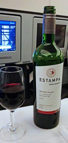 Chilenischer Wein an Bord der Lufthansa