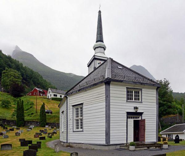Die Kirche von Geiranger, Norwegen
