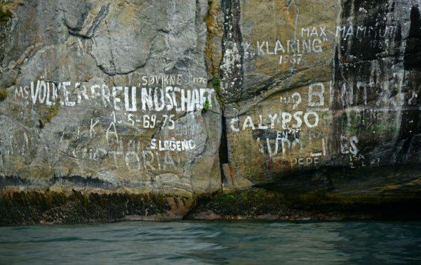 Die Völkerfreundschaft war im Geiranger-Fjord, Norwegen