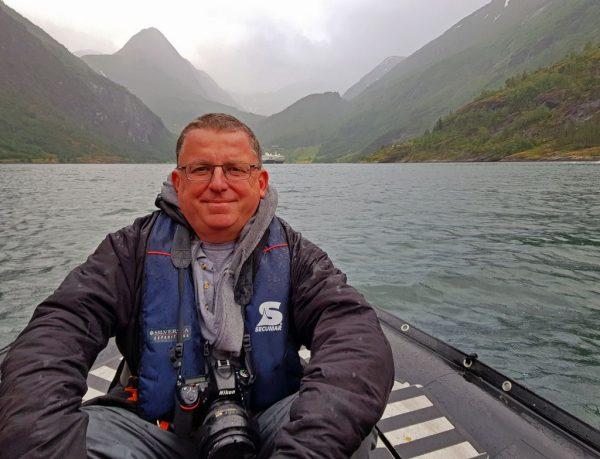 'Der nasse Mann und der Fjord', Norwegen