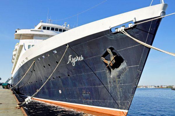 Die MS Azores, ex 'Völkerfreundschaft', in Norwegen 2014