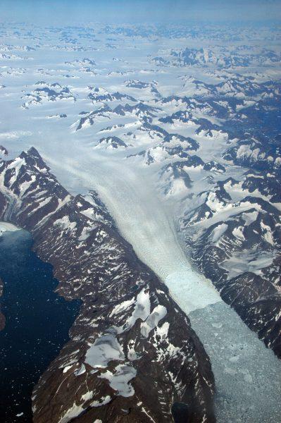 Erster Blick auf Grönland