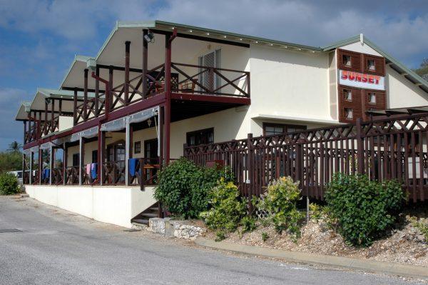 Das Sunset-Hotel auf Christmas Island