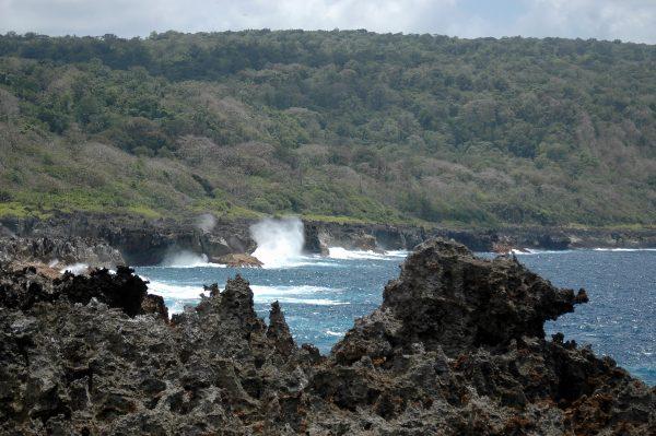 The Blowholes auf Christmas Island