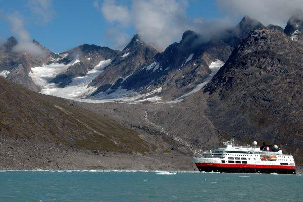 Die MS FRAM im Evighedsfjord
