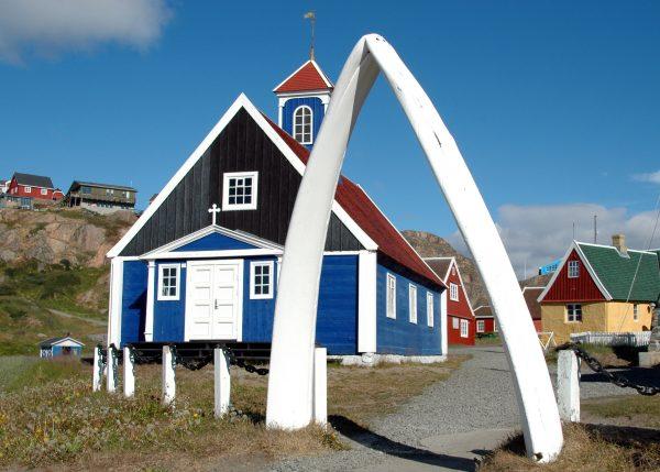 Die älteste Kirche von Grönland in Sisimiut