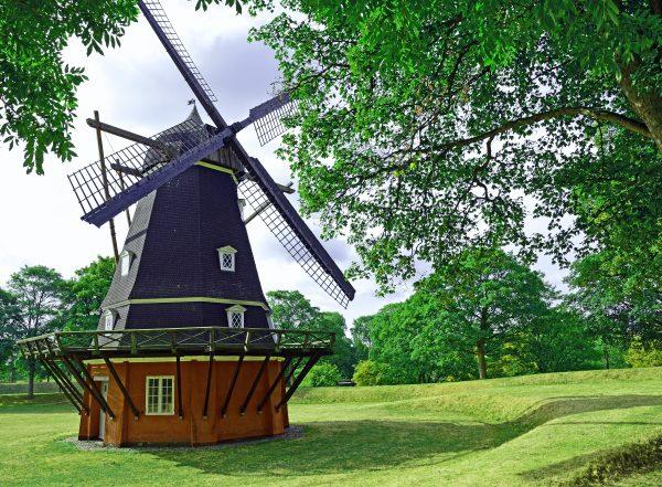 Eine Windmühle in der Kaserne 'Kastellet', Kopenhagen