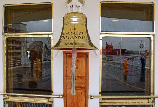 Die HMY Britannia in Leith