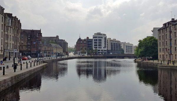 Die Innenstadt von Leith, Schottland