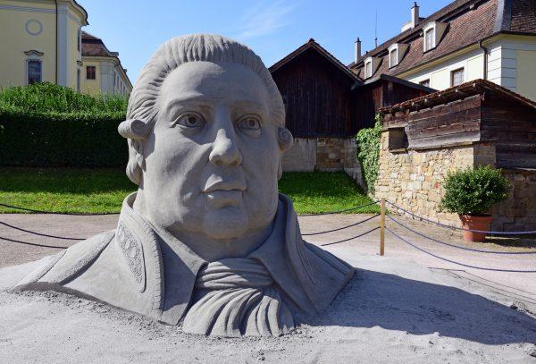 Sand-Kunst im Schloss von Ludwigsburg