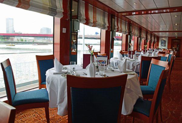 Das Restaurant auf der MS Belvedere