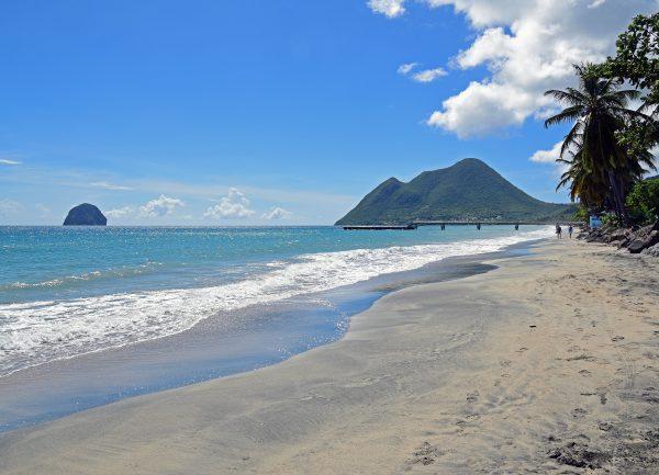 Strand in Süden von Martinique