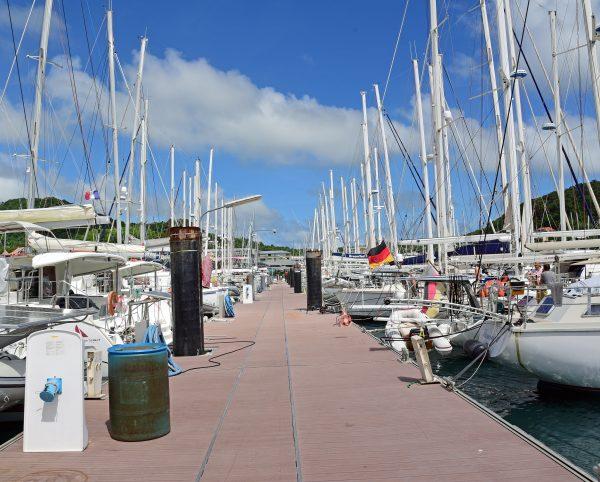Der Jachthafen von Le Marin in Martinique