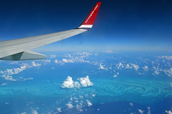 Auf dem Flug von Martinique nach Miami