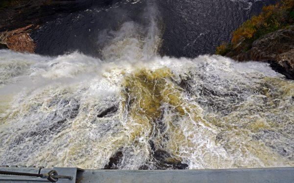 Der Montmorency Wasserfall in der Nähe von Québec