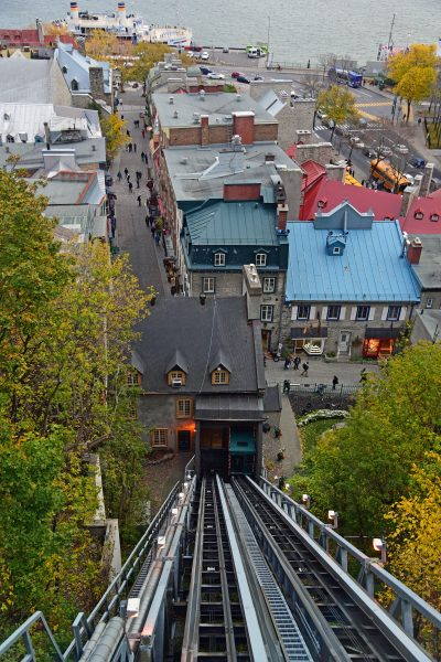 Die 'Funiculaire du Vieux-Québec' in Québec