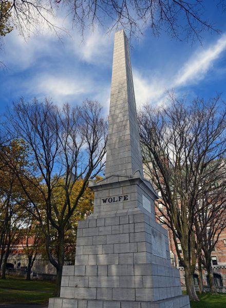 Das Monument des britischen Generals James Wolf